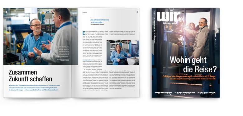 Reportage Zusammen Zukunft schaffen aus Mitarbeiterzeitschrift wir°