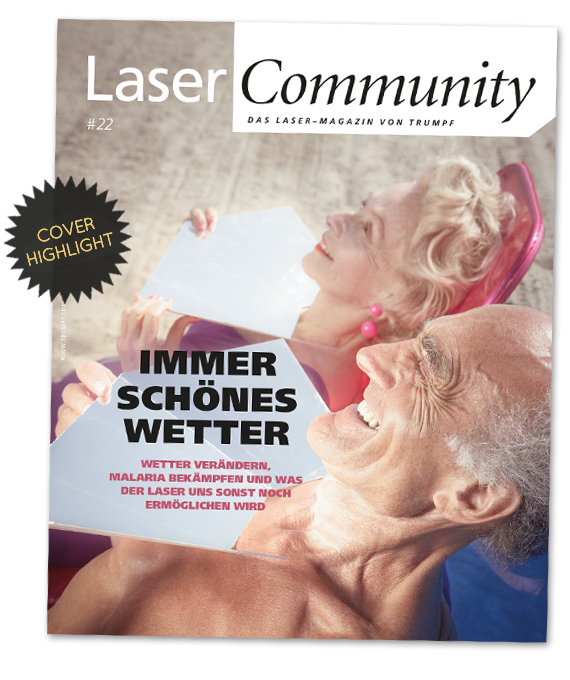 magazin cover highlight Trumpf Laser Community