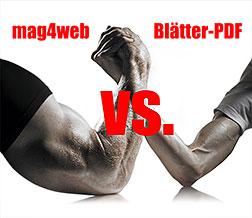 HTML-Magazin vs. Blätter-PDF