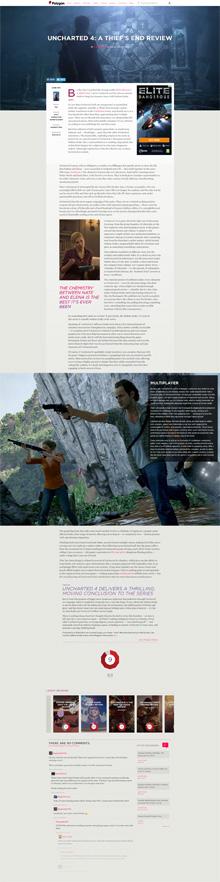 Screenshot der Seite Polygon.com
