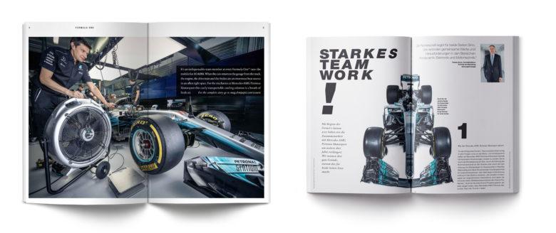 Mercedes AMG Petronas im Heft mag von ebm-papst