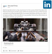 Mercedes AMG Petronas auf LinkedIn