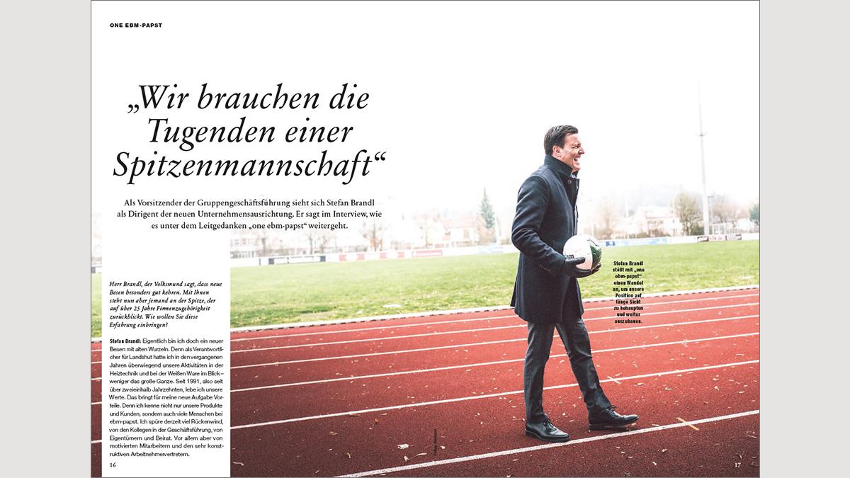 CEO Stefan Brandl im Interview auf Sportplatz