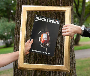 """Cover-Highlight: """"Blick ins Werk"""" 02/2019 von STIHL"""